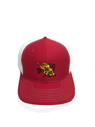 Bright Leaf Red Mesh Snapback Hat