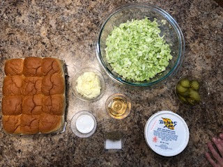 Ingredients Bright Leaf BBQ Sliders