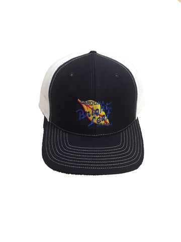 NAVY BLUE/ WHITE MESH SNAPBACK HAT