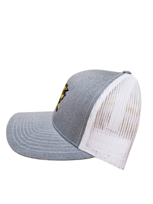 Gray / White Mesh Snapback Hat