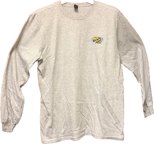 Bright Leaf Brand NC Down East Favorite Gray Long Sleeve T-Shirt