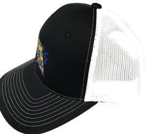 Black / White Mesh Snapback Hat