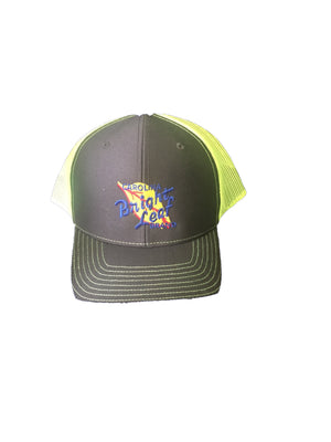 Gray / Neon Green Mesh Snapback Hat