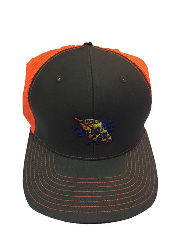 GREY/ BLAZE ORANGE MESH SNAPBACK HAT
