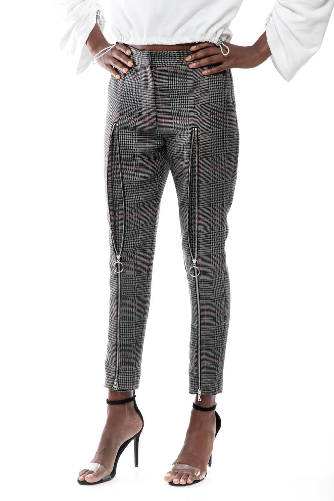Extended Wool Zip Pants