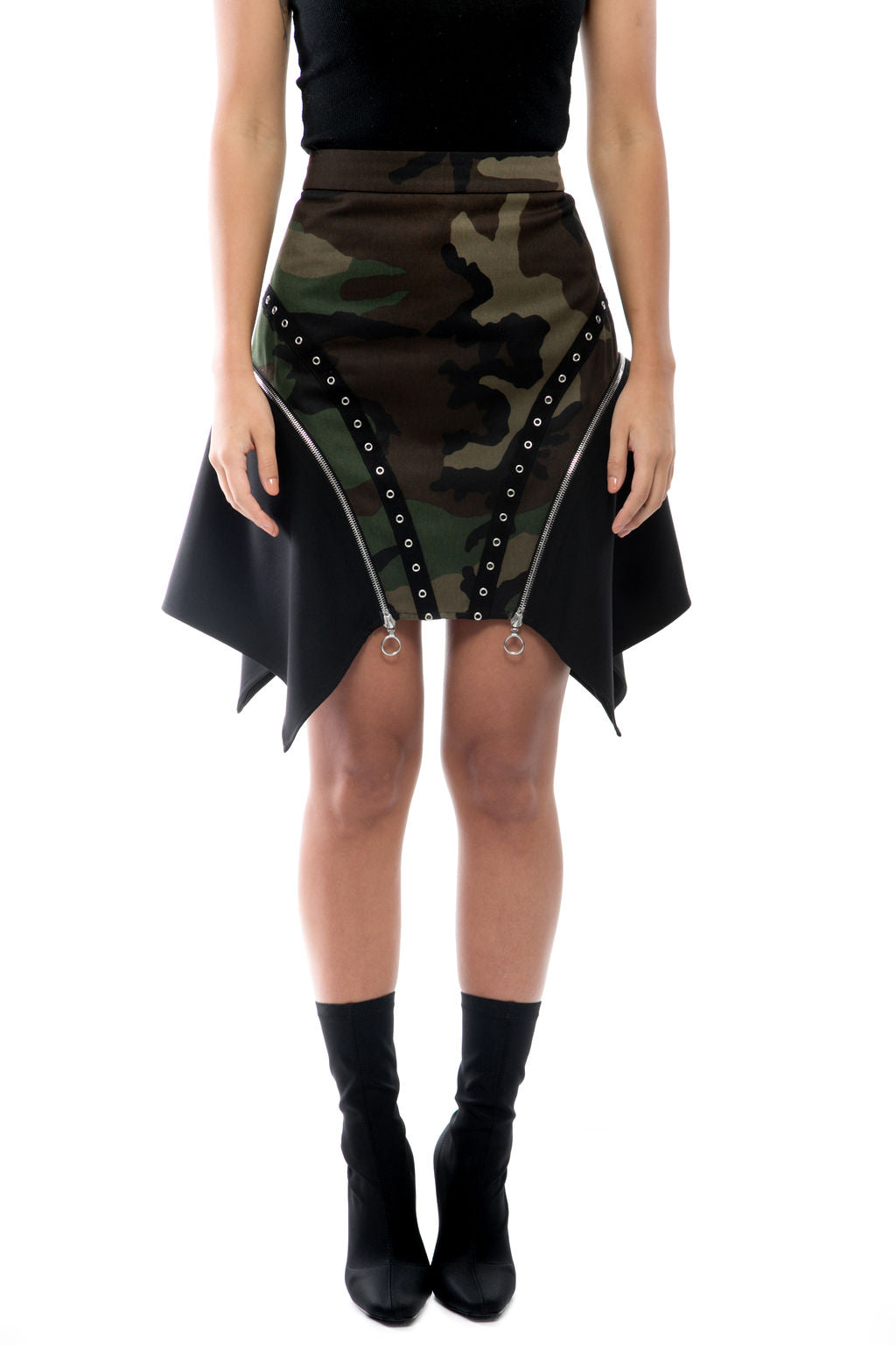 Ivey Camo Side Zip Skirt