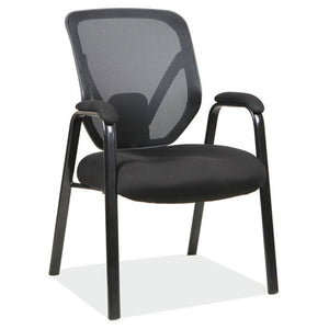 Big & Tall Mesh Back Guest Chair with Arms and Black Frame Weight Capacity 350LBS