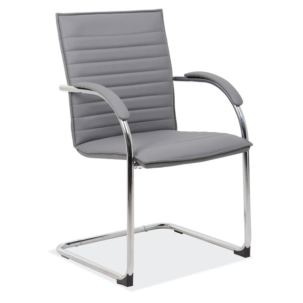 Sled Base Guest Chair with Chrome Frame