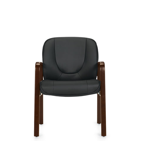 11770B Luxhide Guest Chair with Wood Accents