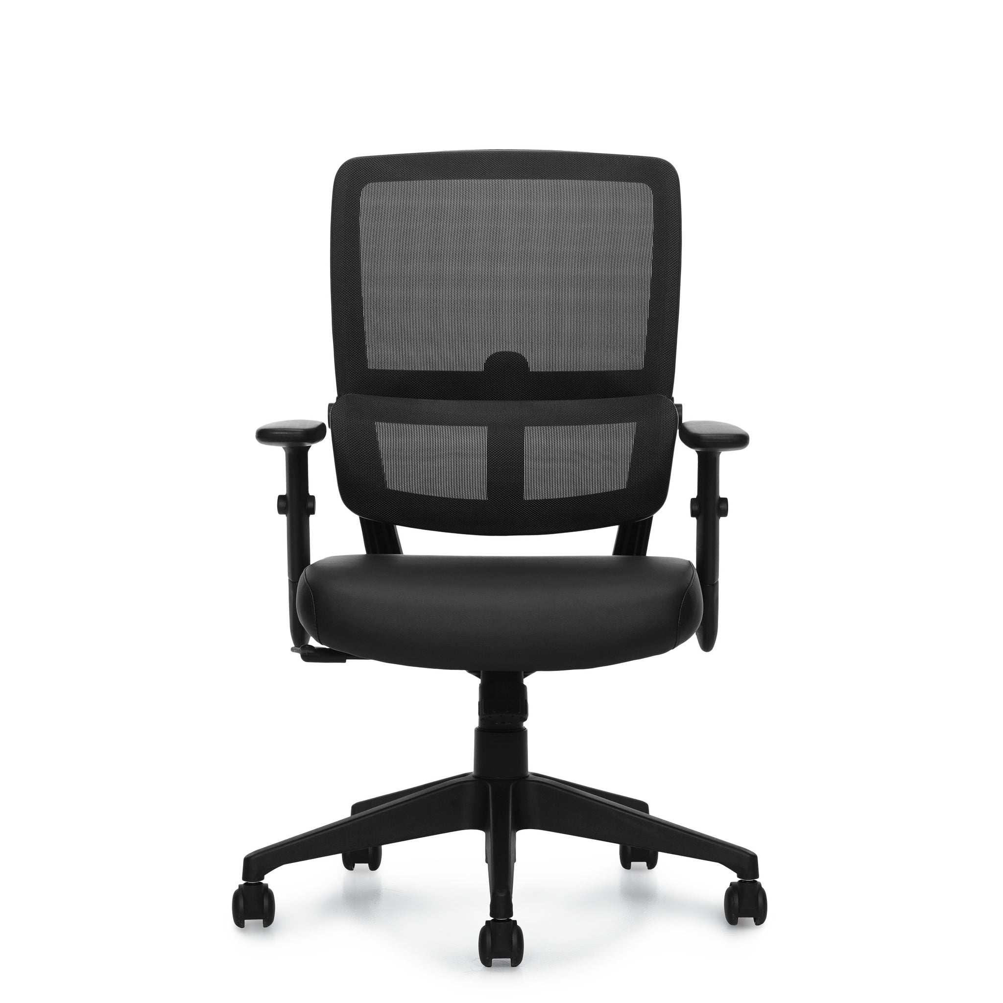 12110B Mesh Back Luxhide Tilter Chair
