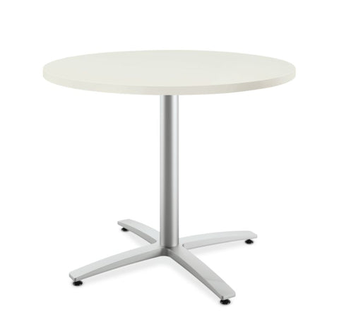 "HON Between Round Table | Seated Height X-Base | 36""D"