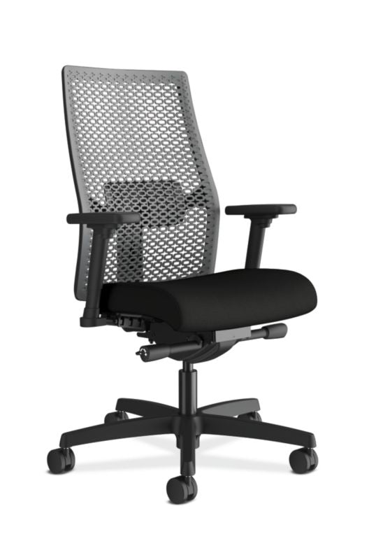 HON Ignition ReActiv Mid-Back Task | Adjustable Arms/Lumbar | Black Fabric