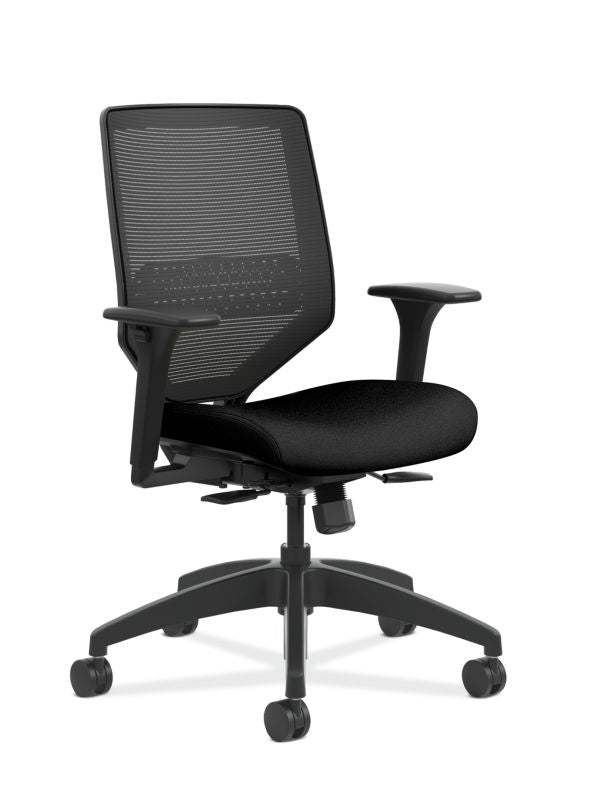 HON Solve Mid-Back Task Chair | Black Mesh Back | Black Frame