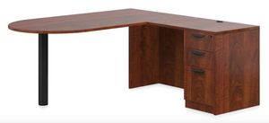 D Island Desk with Box/Box/File Pedestal