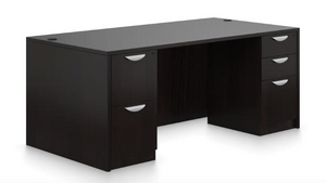 "71""W x 36""D Double Pedestal Desk"