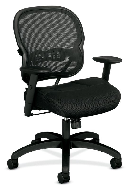 HON Wave Mesh Mid-Back Chair | Synchro-Tilt | Adjustable Arms