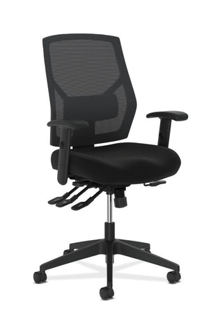 HON Crio High-Back Task Chair | Mesh Back | Adjustable Arms | Asynchronous Control | Adjustable Lumbar