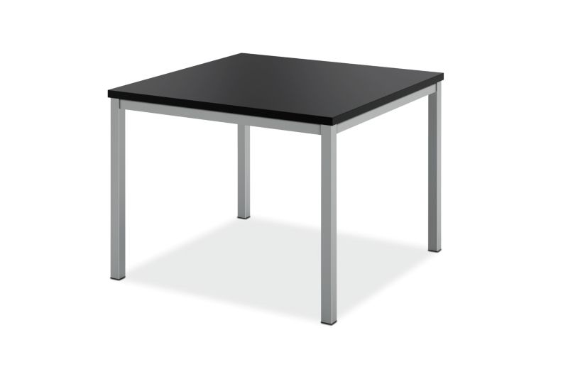 "HON Metal Leg Corner Table | 24""W x 24""D"