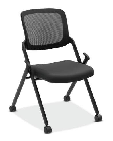 Upholstered Seat and Mesh Back Stacking/Nesting Chair (2 per carton)