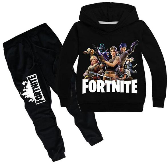 Fortnite Print Long Sleeve Pullover And Pants Set For Kids Skrchic