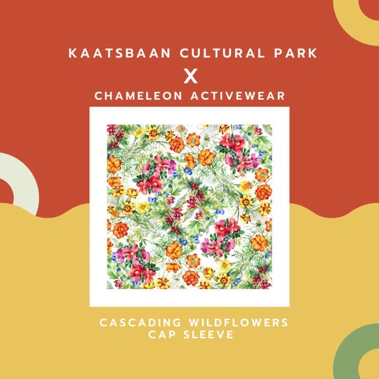 PRE-ORDER LIMITED EDITION KAATSBAAN COLLECTION CASCADING WILDFLOWERS CAP SLEEVE - Chameleon Activewear