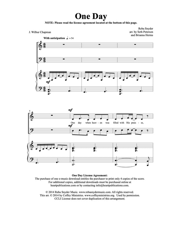 One Day (SATB)