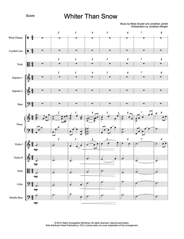 Whiter Than Snow (SATB)