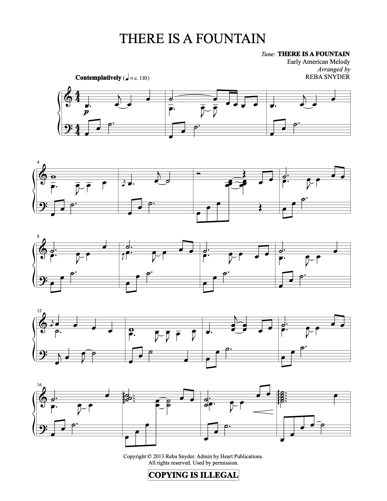 There Is A Fountain (Piano Solo)