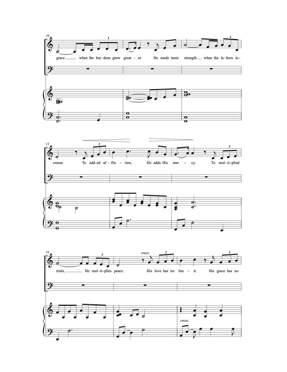 He Gives More Grace (SATB)