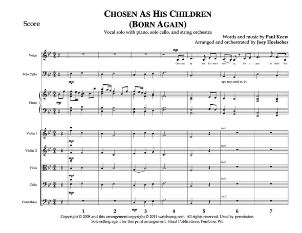 Chosen As His Children - Born Again (Solo)