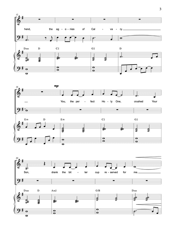 Jesus, Thank You (SATB)