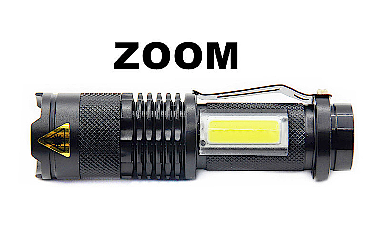 LED Portable Flashlight Mini Zoom Torch Waterproof, 3800LM