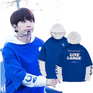 Live Large Hoodie Worn by Suga - Free WorldWide Shipping