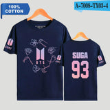 BTS Suga Bias Flowers T-Shirt - Free WorldWide Shipping