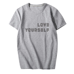 BTS Love Yourself Inscription T-Shirt - Free WorldWide Shipping