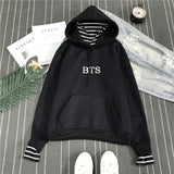 BTS Stripes Hoodie - Free WorldWide Shipping