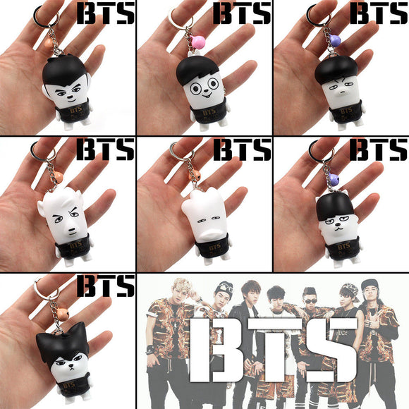 BTS Old School Keychain