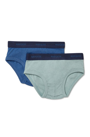 Marquise Boys Cobalt Blue Green 2pk Everyday Underwear