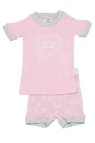 Snugglebum Chasing Dreams Pink Shortjohn Pyjamas