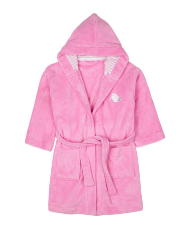Four in the Bed Girls Pink Robin Dressing Gown Robe
