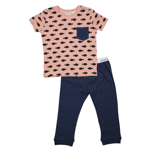 Huckleberry Lane Coral Fish Long Pant Pyjamas