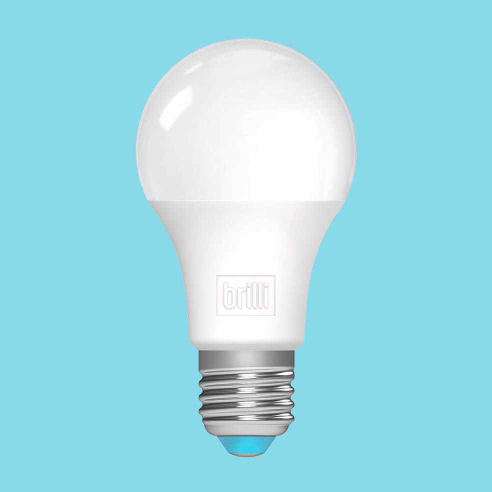 light bulb, blue background