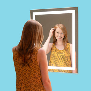 "One-Touch LED Vanity Mirror, 24"" x 32"""