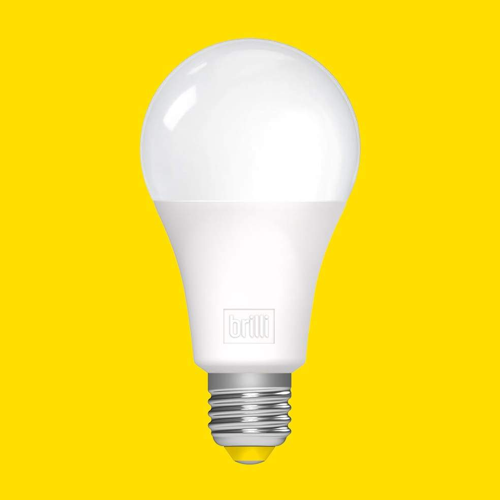 light bulb, yellow background