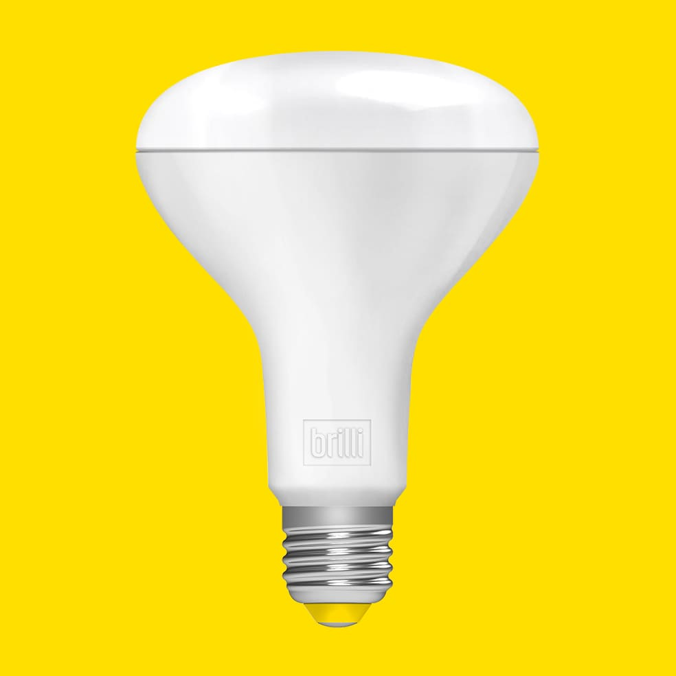 br30 bulb, yellow background