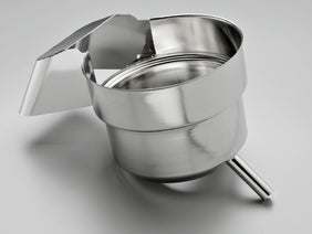 Juicer machine 1-piece catch container made of stainless steel