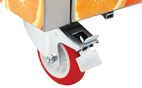 Automatic citrus juicer wheels/castors