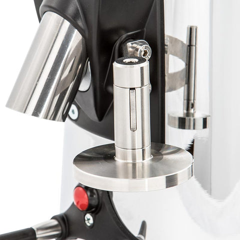 Stainless steel tamper for on demand coffee grinder