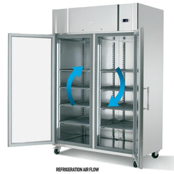 Infrico double glass door reach-in refrigerator - Culinary Equipment Company