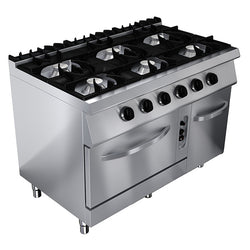 GAS STOVE: 6 BURNERS & GAS OVEN - Culinary Equipment Company